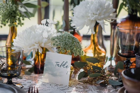 Numéro de table mariage aquarelle