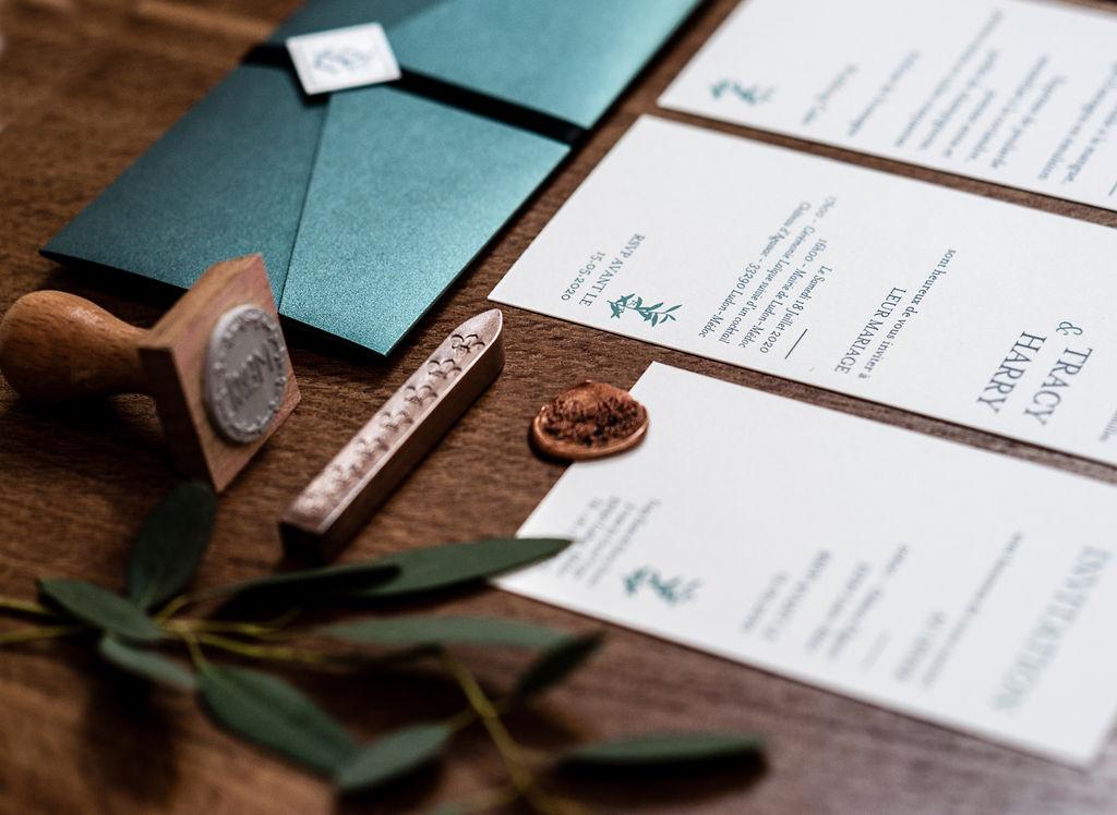 Faire-part mariage Branche olivier