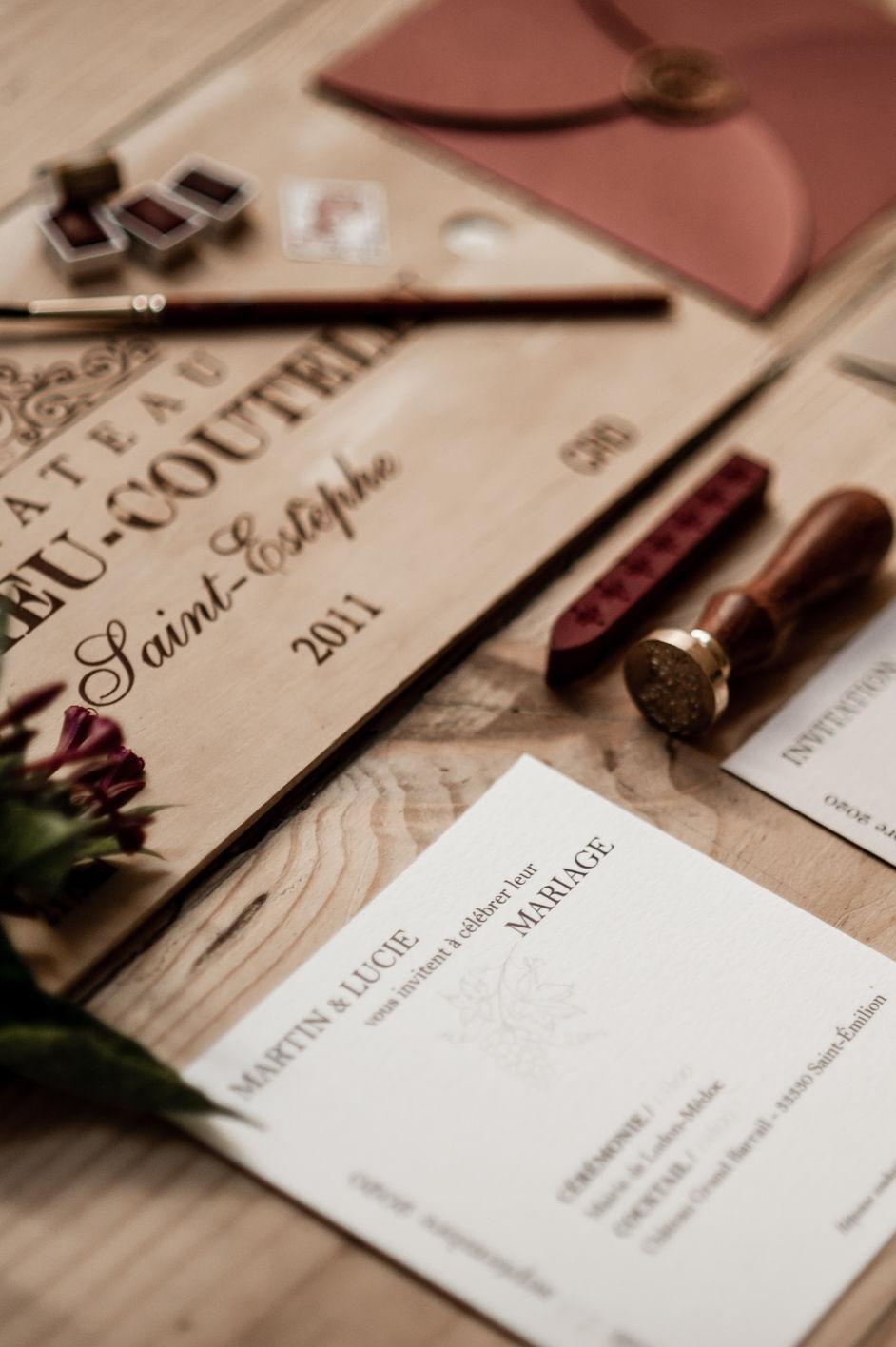Vigne Mademoiselle Mouche Faire Part Mariage Naissance