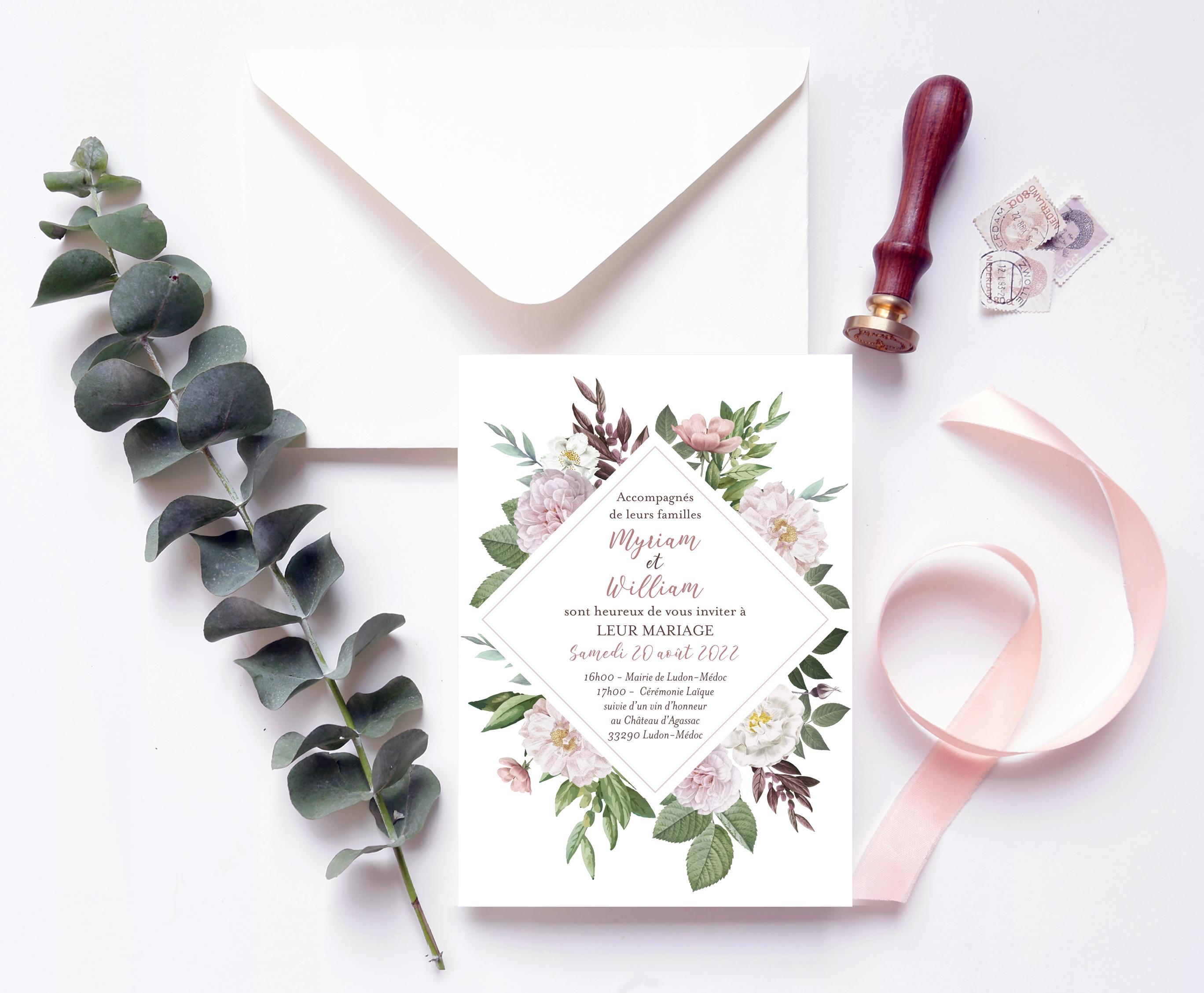 papeterie mariage Botanique